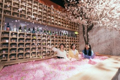 【開催延期】連日1時間半待ち!120万枚の花びらに埋もれるチルアウトバー! 今年は「食べる花見」を加えて、渋谷で初開催!